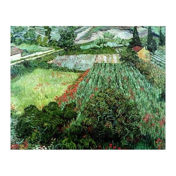 """""""Field with poppies, 1889"""""""