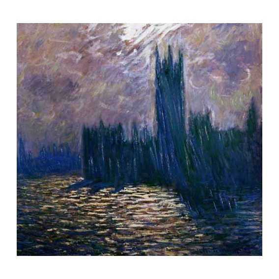 """""""London Parliament, effects on the Thames, 1905"""""""
