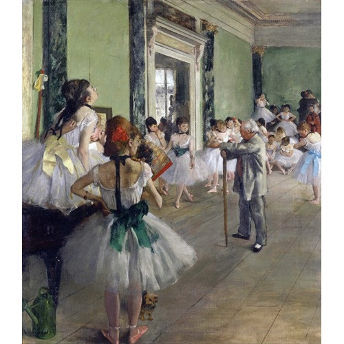 """Cuadro """"The Dancing Class, c.1873-76 (oil on canvas)."""""""