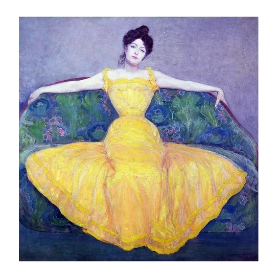"""""""Lady in a Yellow Dress, 1899"""""""