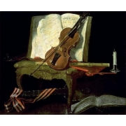 "Cuadro ""Still Life with a Violin (oil on canvas)"""