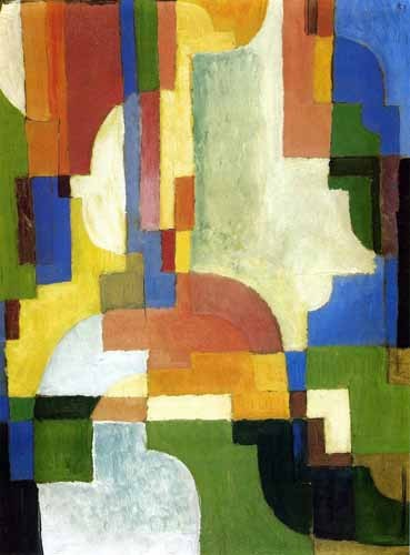 """cuadros abstractos - Cuadro """"Colored forms-1"""" - Macke, August"""
