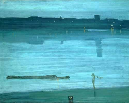"cuadros de marinas - Cuadro ""Nocturne, Blue and Silver_Chelsea, 1871"" - Whistler, James Abbot McNeill"
