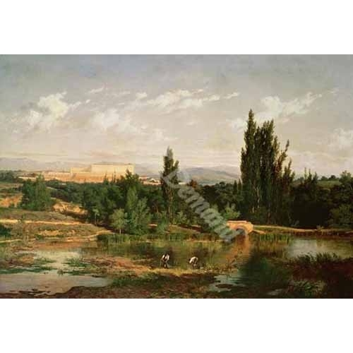 """Countryside with a River, Manzanares"""