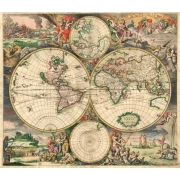 "Cuadro ""Gerard van Schagen, World Map 1689"""