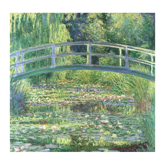 """""""Waterlily Pond, 1899 (oil on canvas)"""""""