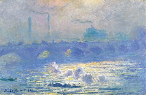 "cuadros de paisajes - Cuadro ""Waterloo Bridge, Effect of the Mist, 1903"" - Monet, Claude"