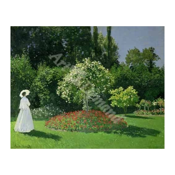 """""""Woman in a Garden, 1867 (oil on canvas)"""""""