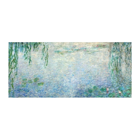 """""""Waterlilies, Morning with Weeping Willows, (central section)"""""""