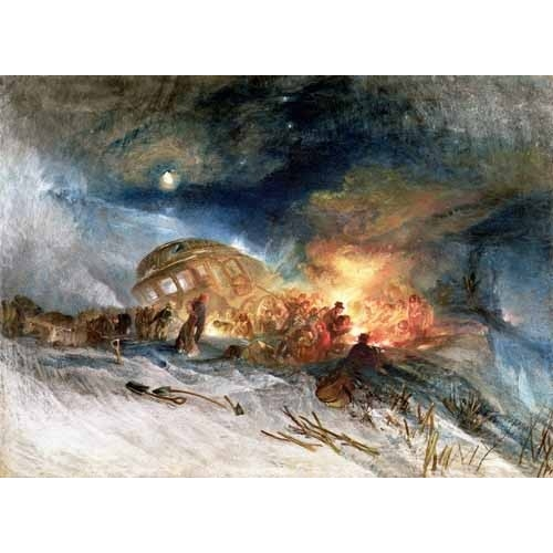 "Cuadro ""Travellers in a Snowdrift"""