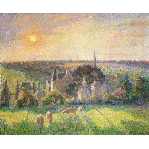 "Cuadro ""Landscape at Eragny, France (1895)"""
