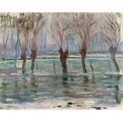 "Cuadro ""Flood waters at Giverny, 1896"""