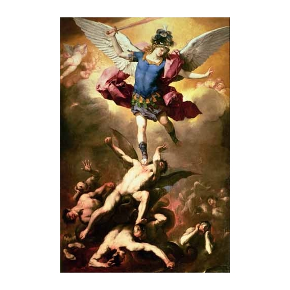 """""""The Archangel Michael hurls the rebellious angels into the abys"""
