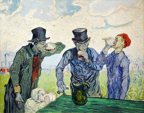 "cuadros de retrato - Cuadro ""The Drinkers, 1890"" - Van Gogh, Vincent"