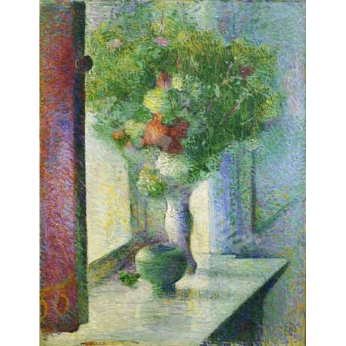 """""""Still life with a bunch of flowers by the window"""""""