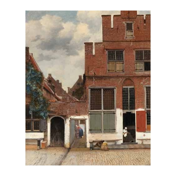 """""""View of Houses in Delft, known as 'The little Street', 1658"""""""