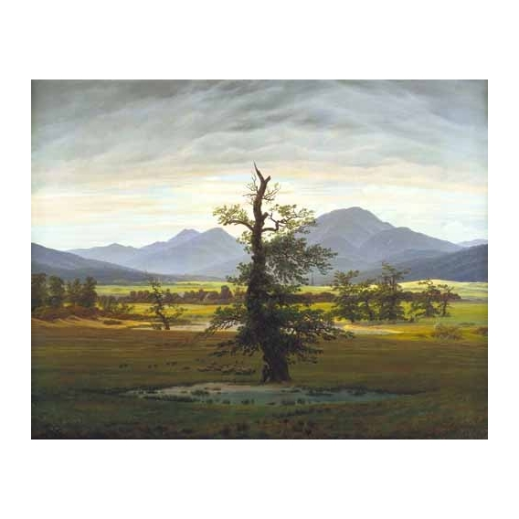 """""""Solitary Tree (also known as Village Landscape in Morning Light"""