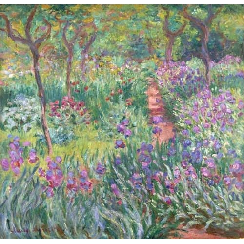 "Cuadro ""The Iris Garden at Giverny"""