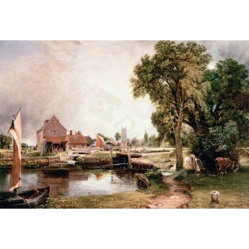 "Cuadro ""Dedham Lock and Mill, 1820 (oil on canvas)"""