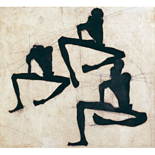 """Cuadro """"Abstracto _ Composition with Three Male Nudes, 1910"""""""