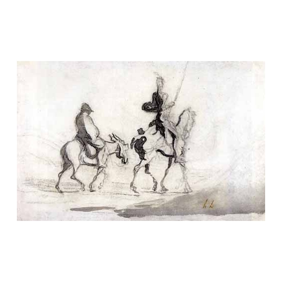 """Don Quixote and Sancho Panza, 1850"""