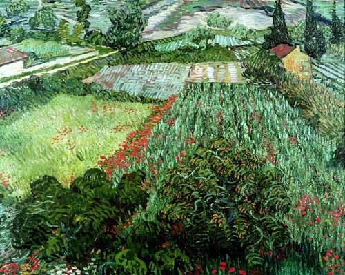 Comprar landscapes - Field with poppies, 1889 online - Van Gogh, Vincent