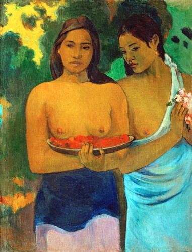 portrait and figure - Señoras tahitianas II - Gauguin, Paul