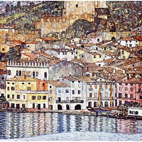 Comprar seascapes - Malcesine on Lake Garda online - Klimt, Gustav