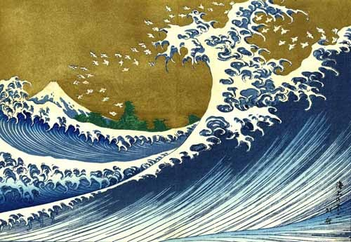 ethnic and oriental paintings - Gran ola - Hokusai, Katsushika