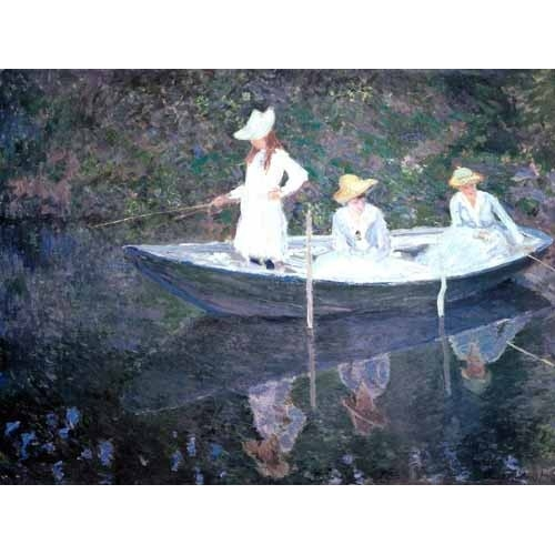 In The Norvegienne Boat At Giverny 1887