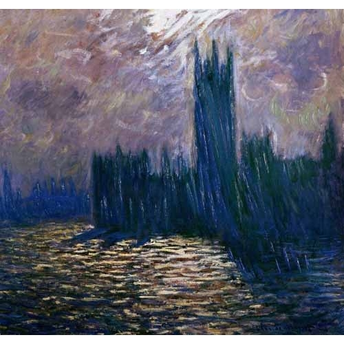 Comprar  - London Parliament, effects on the Thames, 1905 online - Monet, Claude