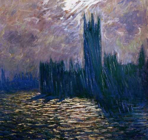 Comprar cuadros de paisajes - Cuadro London Parliament, effects on the Thames, 1905 online - Monet, Claude