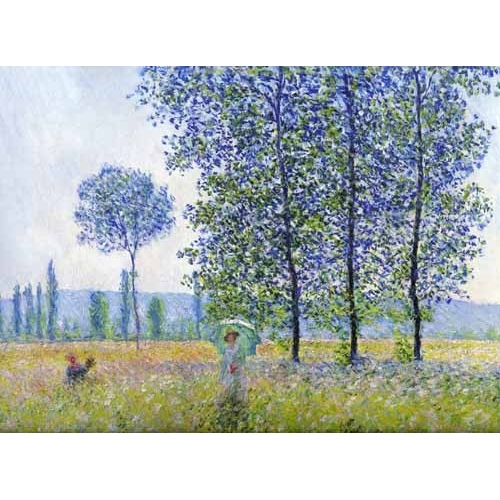 """Sunlight effect poplars Sun, 1887"""