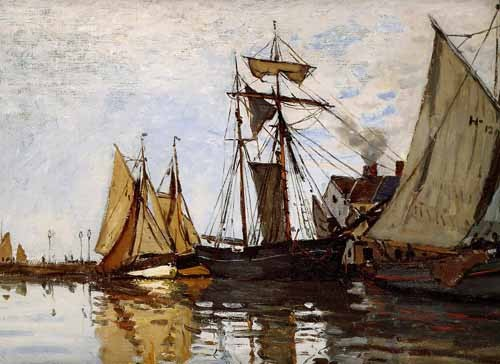 seascapes - Pont of Honfleur Sun - Monet, Claude