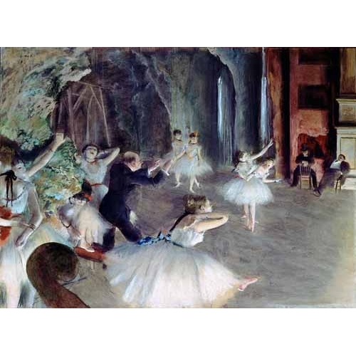 "Cuadro ""The rehearsal of the ballet on stage"""