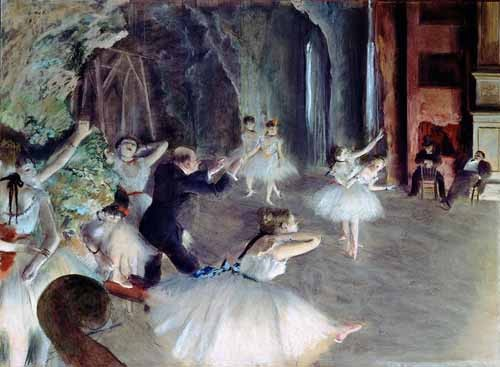 Comprar portrait and figure - The rehearsal of the ballet on stage online - Degas, Edgar