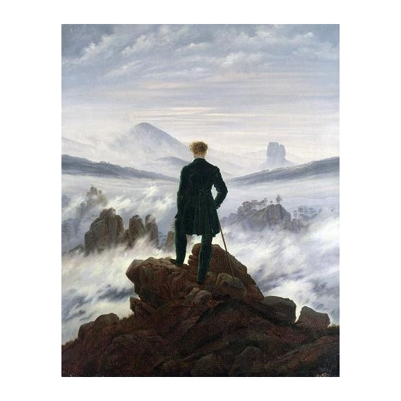 """The Wanderer above the Sea of Fog, 1818"""