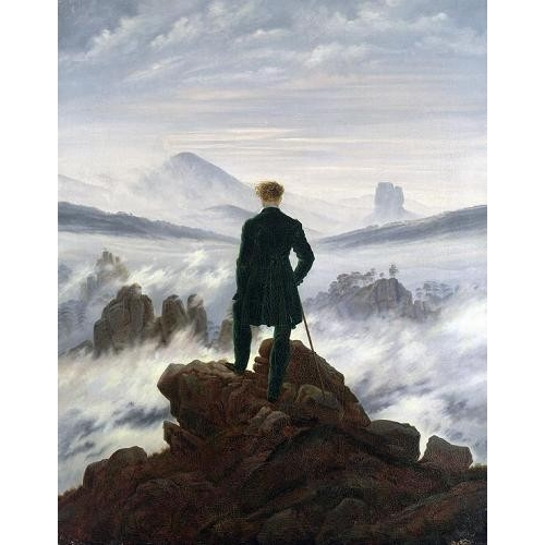 Cuadro The Wanderer above the Sea of Fog, 1818