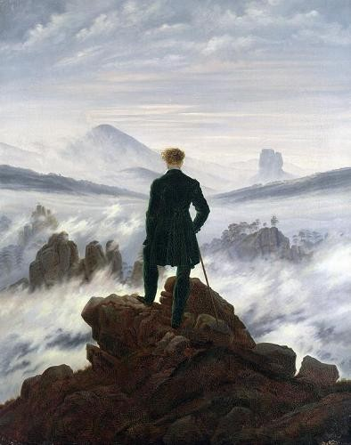 landscapes - The Wanderer above the Sea of Fog, 1818 - Friedrich, Caspar David