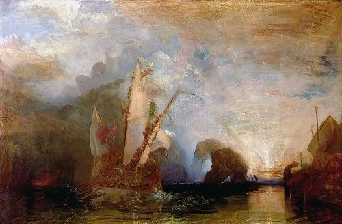 cuadros de marinas - Cuadro Ulisses Deriding Polyphemus, 1829 - Turner, Joseph M. William