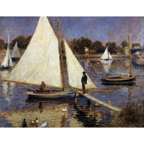 Comprar seascapes - The Seine at Argenteuil, 1874 online - Renoir, Pierre Auguste