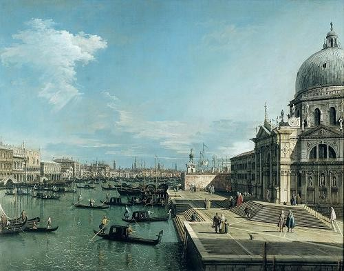 "cuadros de marinas - Cuadro ""The Entrance to the Grand Canal, Venice"" - Canaletto, Giovanni A. Canal"