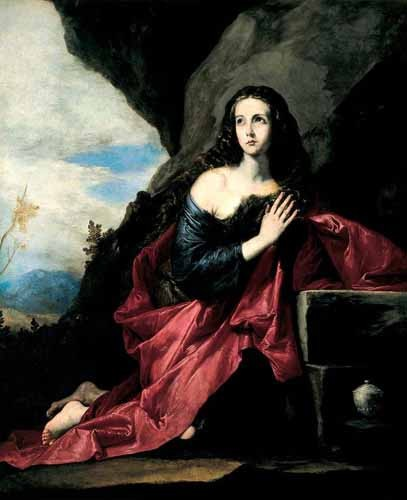 religious paintings - Maria Magdalena, Penitente - Ribera, Jose de