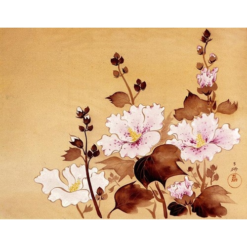 Comprar ethnic and oriental paintings - Flores blancas online - _Anónimo Chino