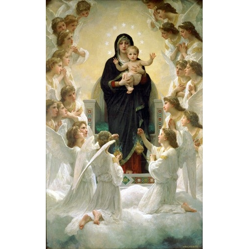 Comprar  - Cuadro La Virgen y angeles online - Bouguereau, William