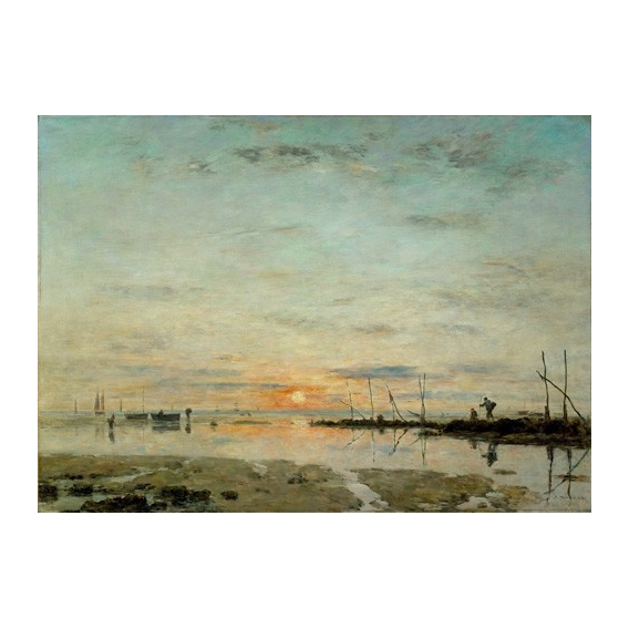 """Le Havre, Sunset at low tide"""