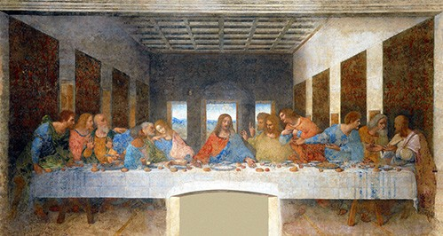 religious paintings - La Ultima Cena - Vinci, Leonardo da