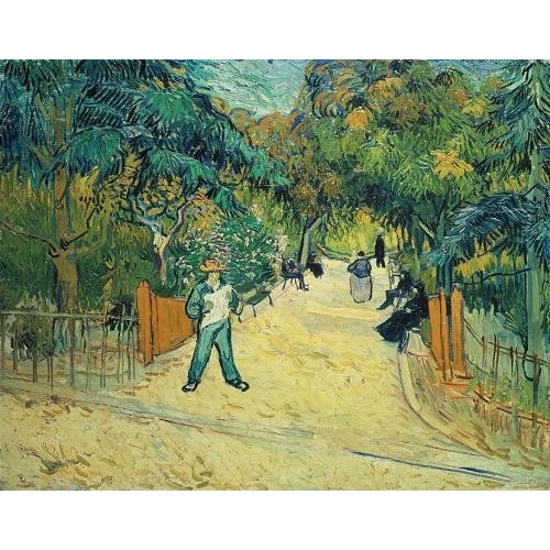 Cuadro Entrance to the Public Gardens in Arles, 1888