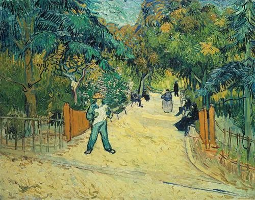 "cuadros de paisajes - Cuadro ""Entrance to the Public Gardens in Arles, 1888"" - Van Gogh, Vincent"