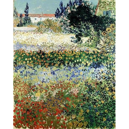 "Cuadro ""Garden in Bloom, Arles, 1888"""